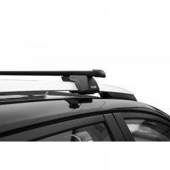 Багажник стальной прямоугольный усиленный (1.9 мм) Lux Классик 1,2 м на рейлинг с просветом (Арт. 842556)