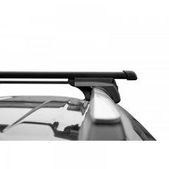 Багажник стальной прямоугольный усиленный (1,9 мм) Lux Элегант 1,2 м на рейлинг с просветом (Арт. 842648)